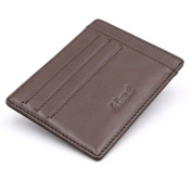 Kinzd Slim RFID Blocking Front Pocket Leather Wallet for Men Mini Card Holder