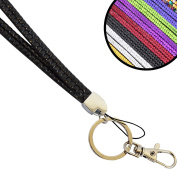 Wholesale Solutions Quality Bling Lanyard Rhinestone Diamonte Crystal Neck ID Card & Phone Holder