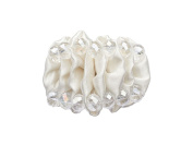 "La Loria Shoe Clips ""Lovely Caterpillar"" Shoe Embellishments Brooches in white, 1 Pair"