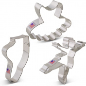 Ballet / Dance Cookie Cutter Set - 3 piece - Ballerina, Tutu and Ballet Shoe - Ann Clark - Tin Plated Steel