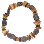 Handmade Adult Amber Bracelet - Genuine Baltic Amber for best price - Elastic