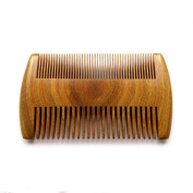 VAMIX Wooden Beard Comb – No Static Natural Fragrance Double Different Densities Green Sandalwood Handmade Comb, Pocket Comb For Beards & Moustaches Hair