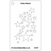 That's Crafty Dinky Stencil 7.6cm x 12cm -Star Shower