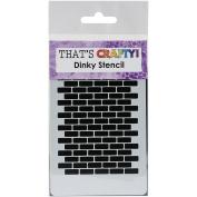 That'S Crafty Dinky Stencil 7.6cm x 12cm -Brick Repeat Background