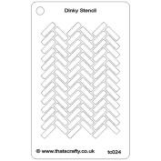 That'S Crafty Dinky Stencil 7.6cm x 12cm -Herringbone Background