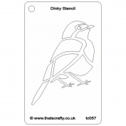 That's Crafty Dinky Stencil 7.6cm x 12cm -Robin