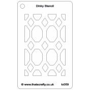 That's Crafty Dinky Stencil 7.6cm x 12cm -Jewelled