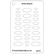 That's Crafty Dinky Stencil 7.6cm x 12cm -Triangle Ovals
