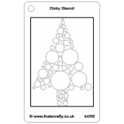 That's Crafty Dinky Stencil 7.6cm x 12cm -Bubble Tree