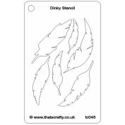 That's Crafty Dinky Stencil 7.6cm x 12cm -Feathers