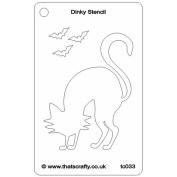 That's Crafty Dinky Stencil 7.6cm x 12cm -Scaredy Cat