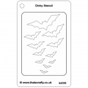 That's Crafty Dinky Stencil 7.6cm x 12cm -Flight Of The Bats