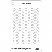 That's Crafty Dinky Stencil 7.6cm x 12cm -Punchinellea Background