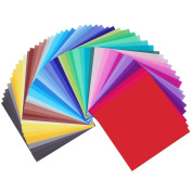 Caydo 50 Vivid Colours 200 Sheets Single Sided Origami Paper 15cm by 15cm for Arts and Crafts Projects