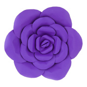 Mega Crafts 41cm Handmade Paper Flower in Purple | For Home Décor, Wedding Bouquets & Receptions, Event Flower Planning, Table Centrepieces, Backdrop Wall Decoration, Garlands & Parties
