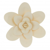 Mega Crafts 41cm Handmade Paper Flower in Ivory | For Home Décor, Wedding Bouquets & Receptions, Event Flower Planning, Table Centrepieces, Backdrop Wall Decoration, Garlands & Parties