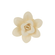 Mega Crafts 20cm Handmade Paper Flower in Ivory | For Home Décor, Wedding Bouquets & Receptions, Event Flower Planning, Table Centrepieces, Backdrop Wall Decoration, Garlands & Parties