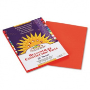 Construction Paper, 26kg., 9 x 12, Orange, 50 Sheets/Pack, Sold as 50 Sheet