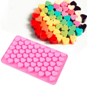 New Arrival 55-Cavity Mini Heart Silicone Cake Mould Chocolate Fondant Jelly Cookie Muffin Ice Tray Mould Flexible Moulds Cupcake Bake Tools Small
