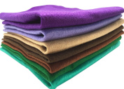 """Misscrafts 7pcs 18"""" X 18"""" 1.4mm Thick Acrylic Soft Felt Nonwoven Fabric Sheet Pack DIY Craft Patchwork Sewing Squares Assorted Colours for Hobby Crafter"""