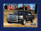 FORD F-150 COTTON FABRIC PANEL AND BARN-FORD TRUCK COTTON PANEL SOLD BY THE PANEL