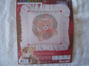 COLORPOINT PAINTSTITCHING Teddy Wreath Pillow Kit