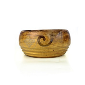 Turmeric Wood Crafted Exclusive Knitting Yarn Ball Storage Bowl Nagina International