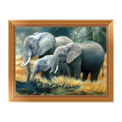 SCASTOE DIY 5D Diamond Embroidery Painting Elephants Cross Stitch Craft Home Decor