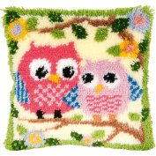 8 Model Latch Hook Kit Owl Cushion Cover DIY Craft Needlework Crocheting Cushion Embroidery BZ644