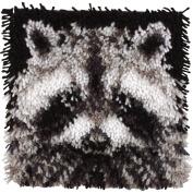 "Brand New Wonderart Latch Hook Kit 30cm ""X12""""-Raccoon Brand New"