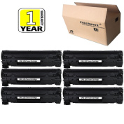 Compatible CRG125 Toner Cartridge 6 Pack Black Replacement for Canon 125, Etechwork Brand