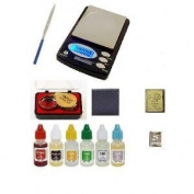 Puritest Analyzer Pack of Test Acids Plus Electronic Scale Machine, Diamond Loupe, Silver and Gold Bars and More!