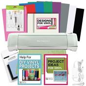 Cricut Explore Air 2 Machine Bundle - Tool Kit, Vinyl Pack, Designs & Project Inspiration