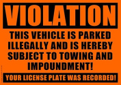 10 VIOLATION - NO PARKING - TOWING Sticker - No Parking stickers