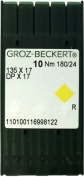 Groz-Beckert 135 X 17 #24 (Non-Titanium Coated) Sewing Machine Needles