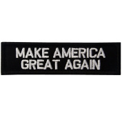 Make America Great Again Rear Hat Hook and loop Patch - White & Black