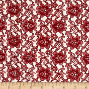 Raschelle Lace Burgundy Fabric By The Yard