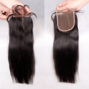 Rishang Hair Brazilian Virgin Hair Straight Closure 4x 4 Human Hair Lace Closure with Bleached Knots Free Part Closure Top Lace Closure