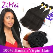 ZiMei Straight Extensions Unprocessed 100% Brazilian Virgin Human Hair Wefts Natural Colour 8A Grade 3 Bundles 18 20 22
