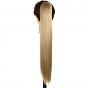 Jackcsale 24inch 60cm Long Straight Claw Clip In Ponytail Wig Hair Extension Hairpiece 24/27