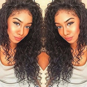 Formal Hair Curly Human Hair Lace Front Wigs 150% Density Brazilian Deep Curly Wig with Baby Hair for Black Women Natural Colour 36cm