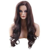 BLONDE UNICORN 80cm Half Hand Made Silk Base Wig 100% Human Hair Wig Natural Black Wigs for Women