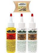 Wild Growth Set - Hair Oil 120ml ( 2 Pack ) and Light Oil Moisturiser 120ml ( 1 Pack ) with Shea Butter Packet