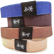 Hair Ties For Guys | Superior, No-Rip, No-Slip Hair Ties for All Hair Types | 'The Nudists' Solid Earth Tones Collection