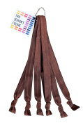 Solid Brown No Crease Elastic Headband Hair Ties by THIS SEASON'S colours; 1.6cm Wide, Soft Stretch, Adjustable size