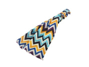 Purple and Turquoise Chevron Print Stretch Headband Hair Accessory