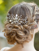Bridalvenus Bridal Hair Combs, Wedding Silver Leaf Hair Comb for Bride and Bridesmaid