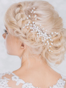 Bridalvenus Bridal Hair Combs, Wedding Hair Silver Comb for Bride and Bridesmaid