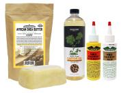 WildGrowth Hair Oil, LightOil Moisturiser 120ml, OLFactory 100%CastorOIl 470ml & Sheabutter Ivory 470ml