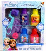Bathtub Fingerpaint Set, Disney Frozen - Bath Soap Paints - with 4 Colour Soaps Paints, Palette Roller and Stamper